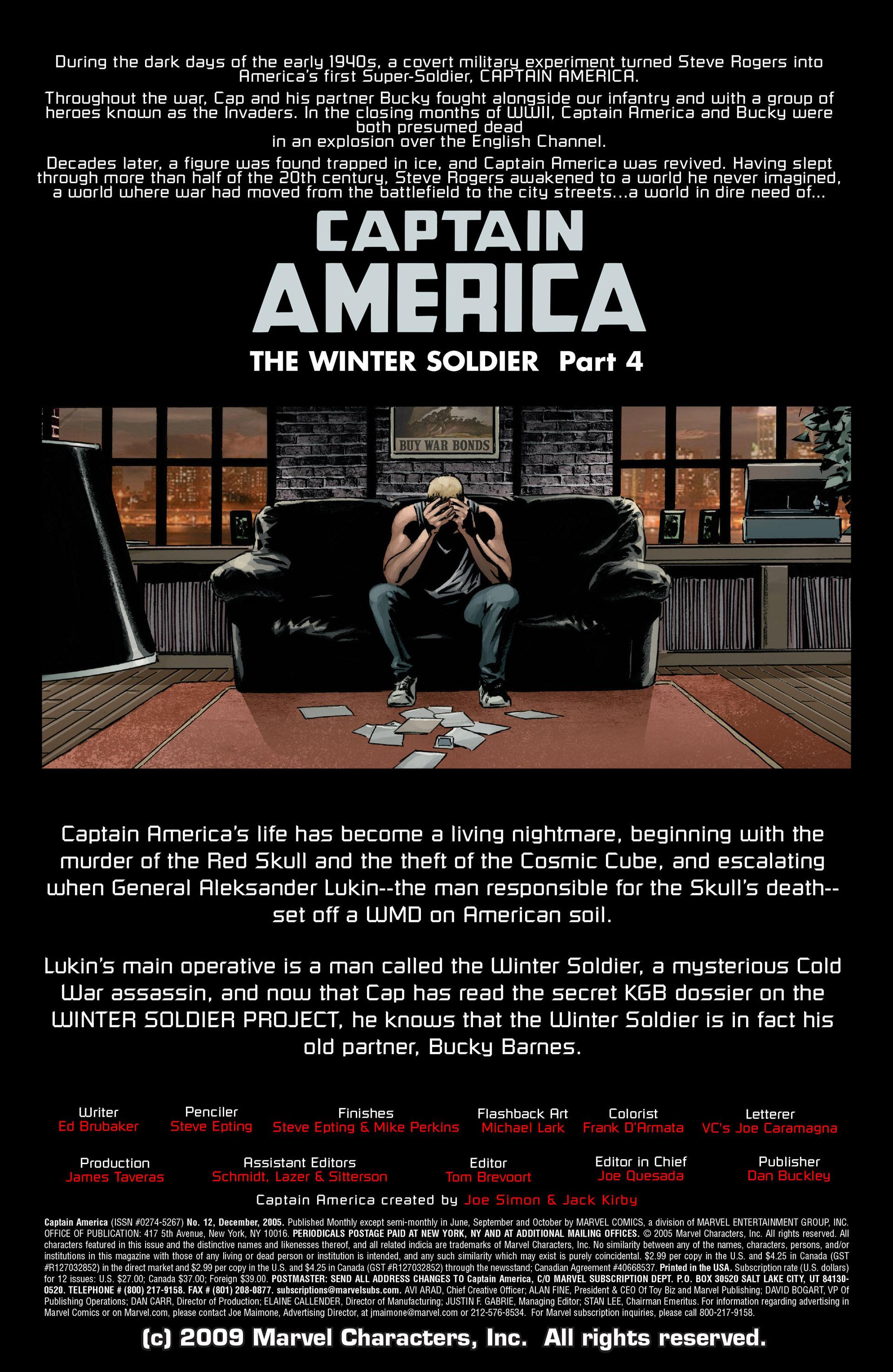 Captain America (2005) Issue #12 #12 - English 2