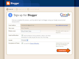 Create Blogger Account
