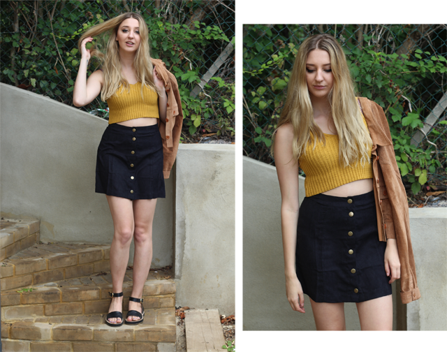 pretty little thing suede skirt
