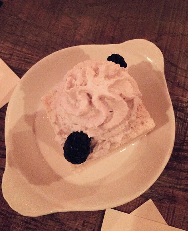 Tres Leches at Saint Anejo Mexican Restaurant in the Gulch, Nashville Tennessee.