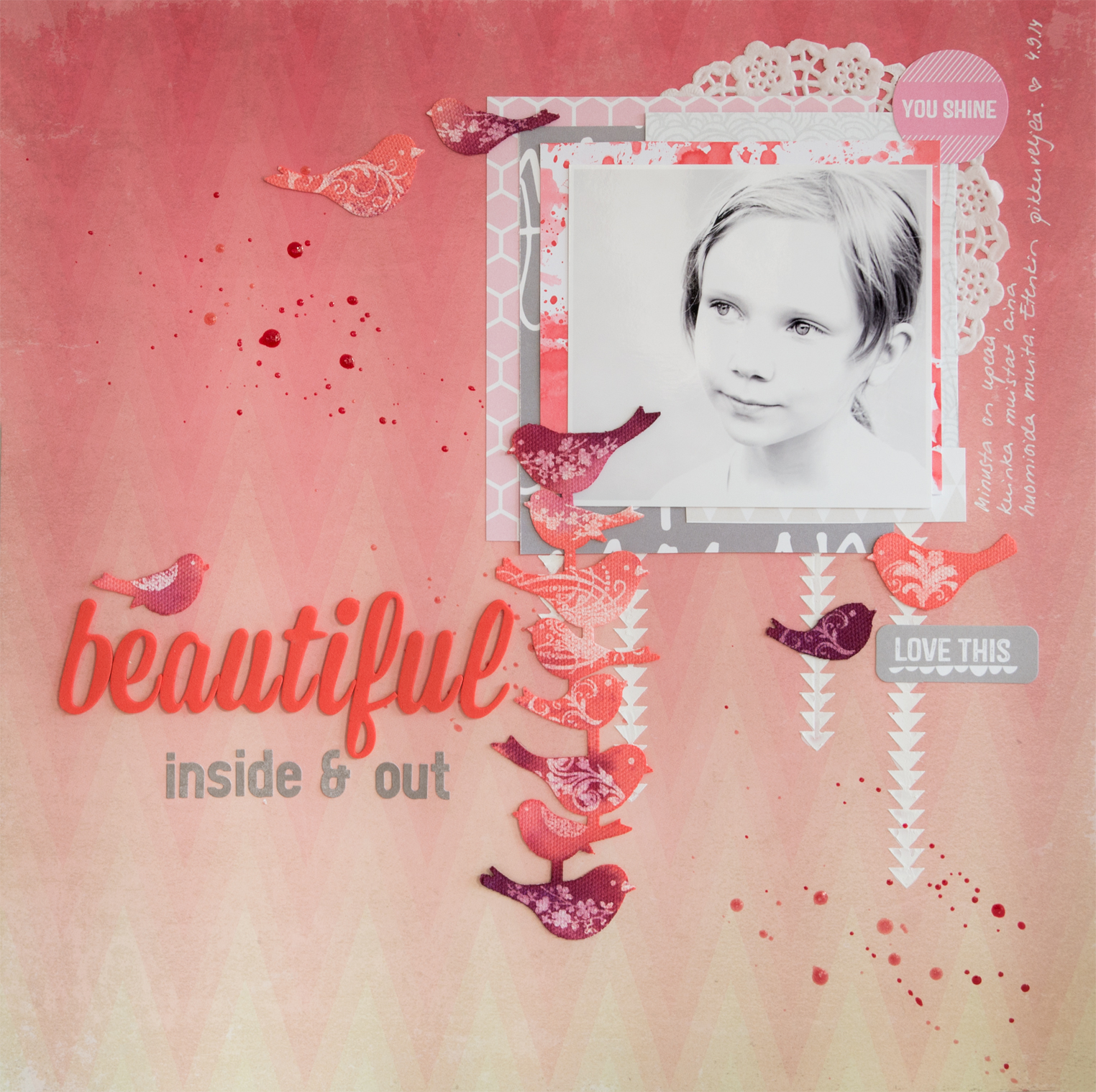Layout for Creative Scrappers sketch #277: Beautiful