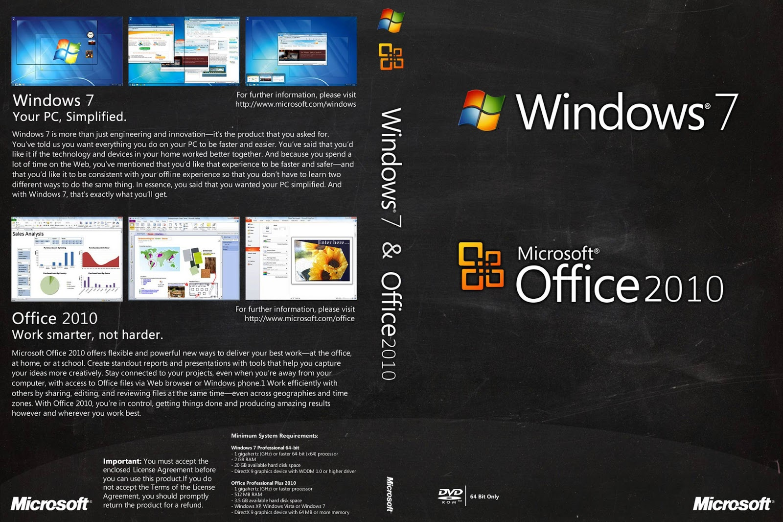 Galeria das capas windows 7 office 2010 custom for Windows 7 bureau