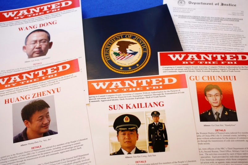Miliatry News - US charges Chinese military officials in cyberspying case