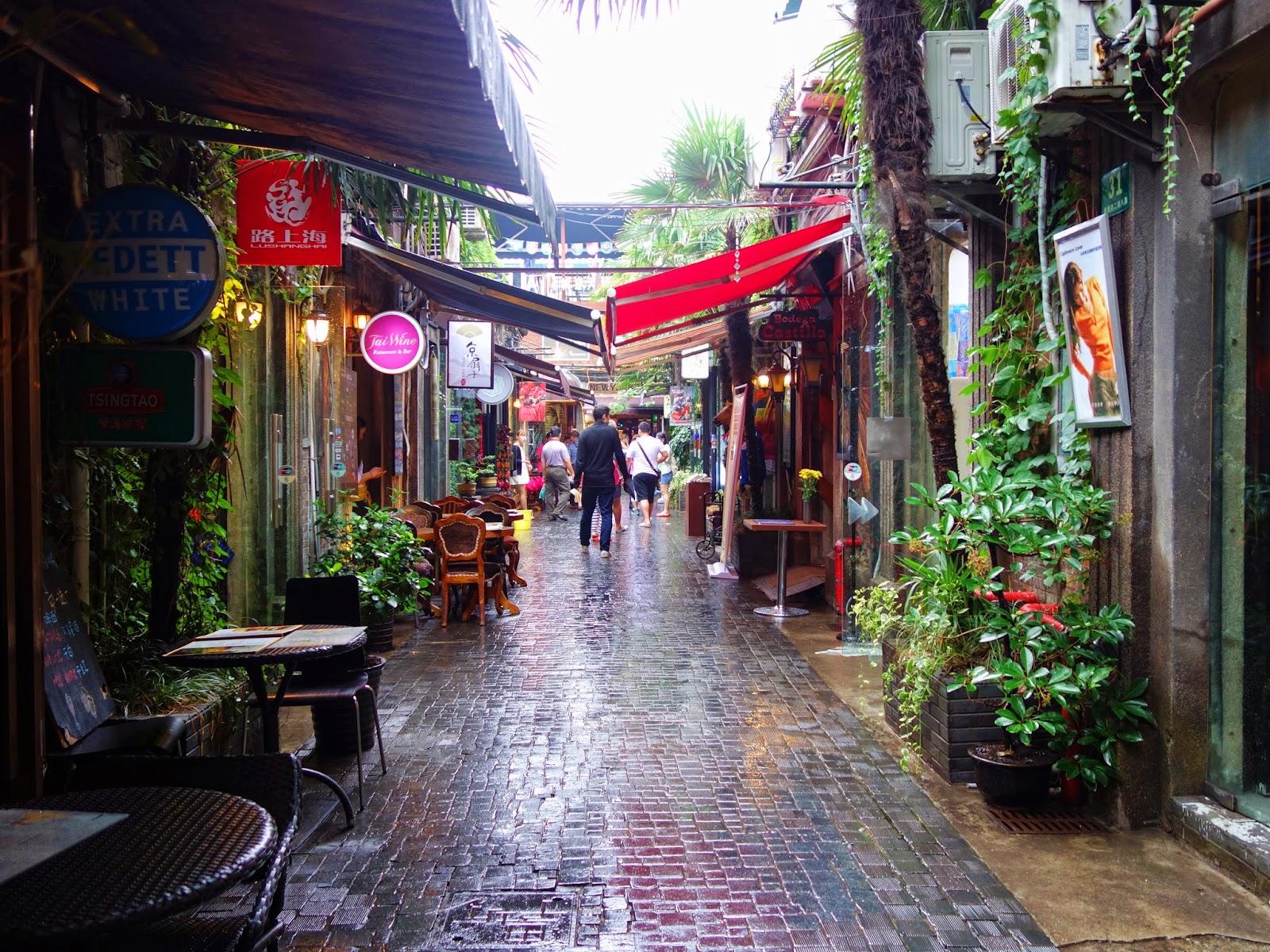 Streets of TianZiFang Shanghai