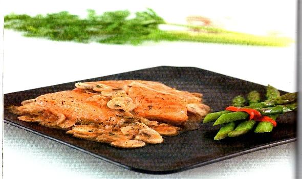 Red del buen comer receta de salm n a la parilla con - Salmon con champinones ...