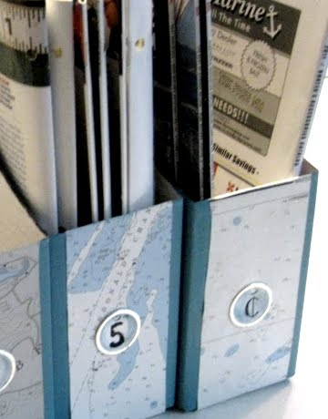 magazine holders with maps