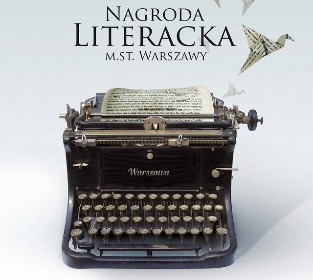 Plakat informujący o Nagrodzie Literackiej m.st. Warszawy