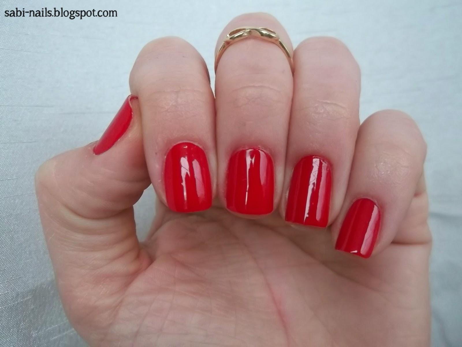 Sabi Nails Czerwony Lakier Od Yves Rocher 101 Rouge