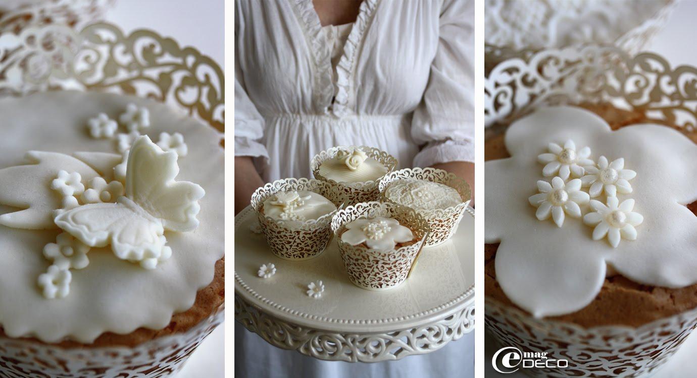 Détails des cupcakes décorés par Nina Couteau