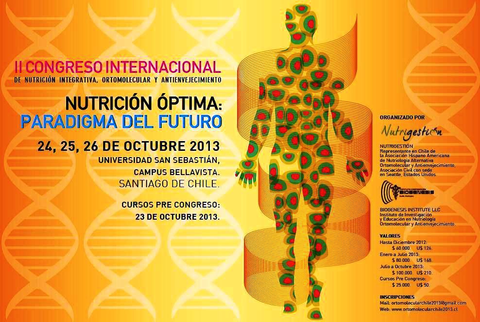 II CONGRESO MUNDIAL DE NUTRICION ORTOMOLECULAR