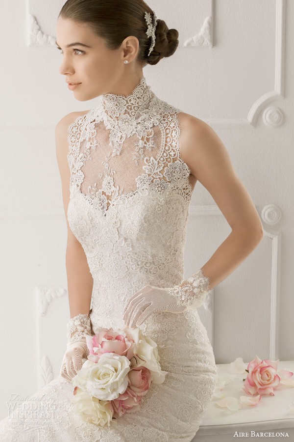 2016 wedding dresses and trends aire barcelona vintage for Wedding dresses with gloves