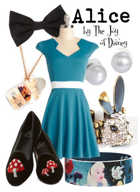 alice in wonderland, alice costume, alice in wonderland costume, disney, disney fashion, disney outfit, blue modcloth dress
