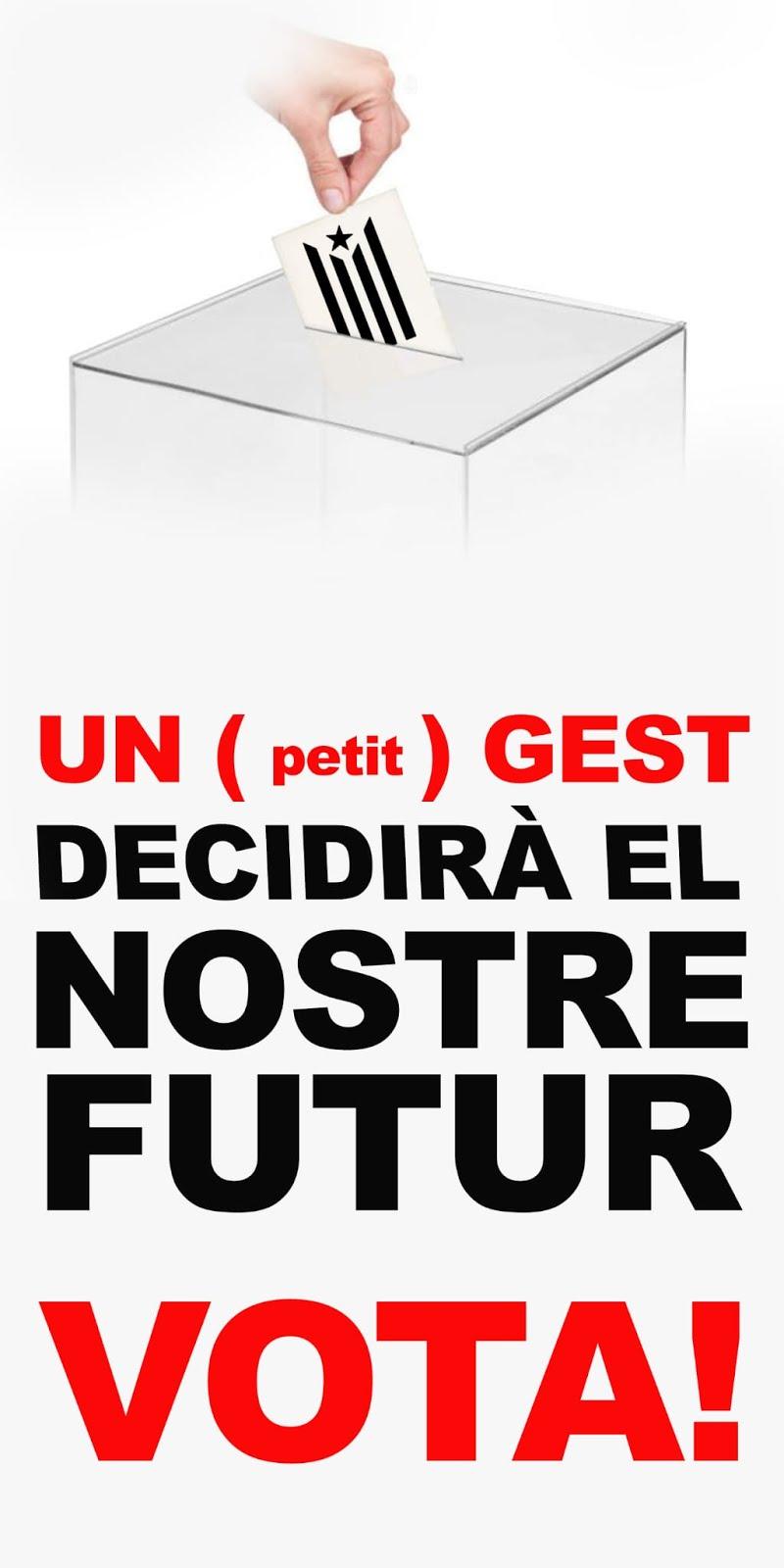 Un petit gest decidira el nostre futur