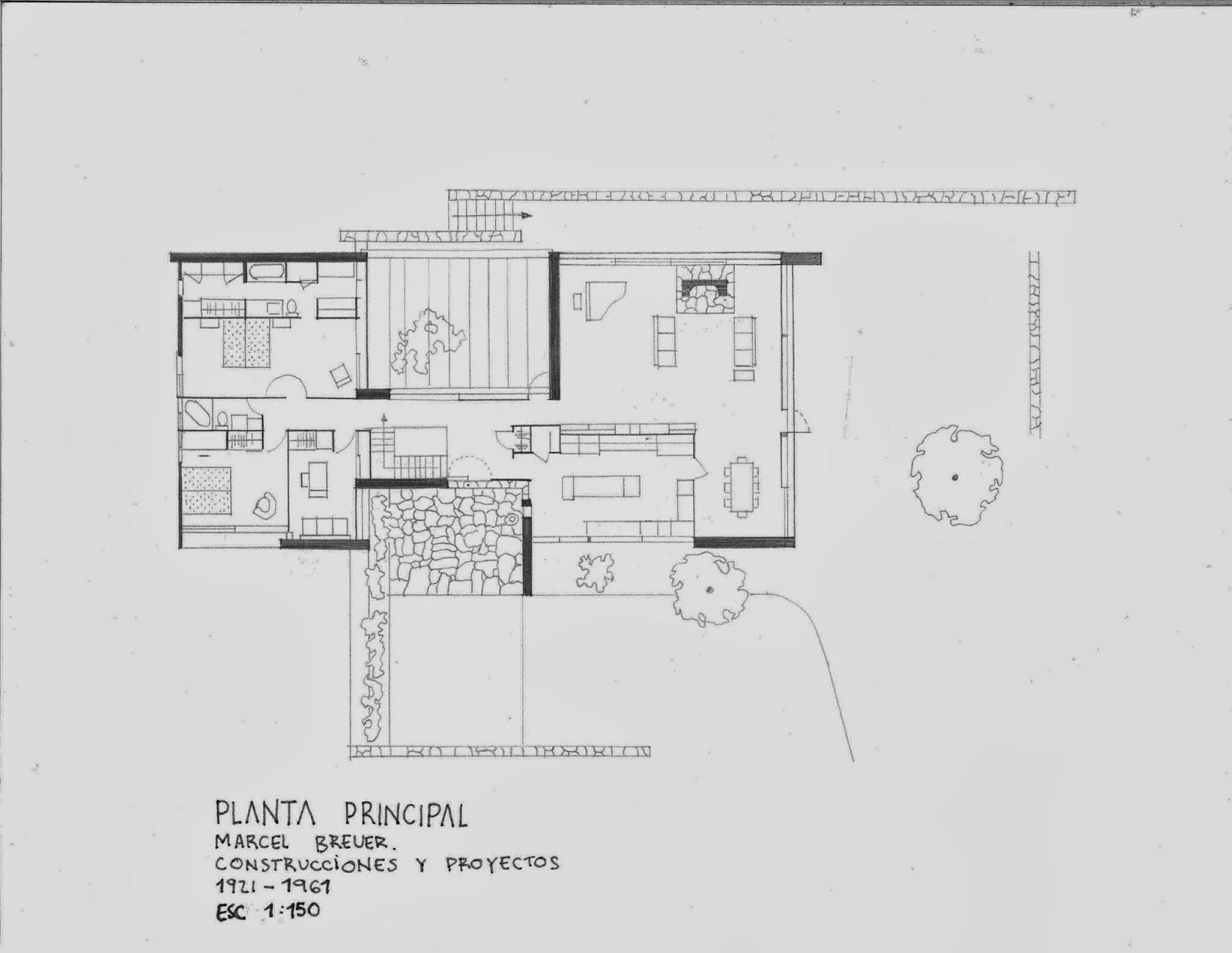 Historia de la arquitectura moderna casa clark marcel for Inicios de la arquitectura