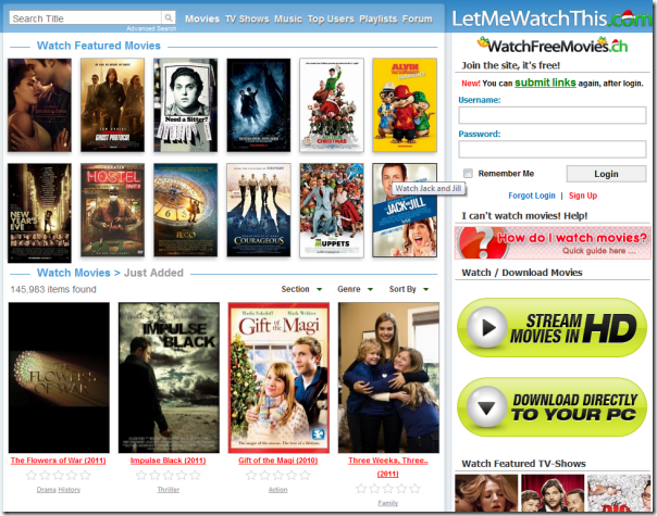 Quot ehowoz quot by harsha top 10 websites to watch online movies for free