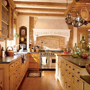 Creative choices interior s the softer side of old world for Old world style kitchen