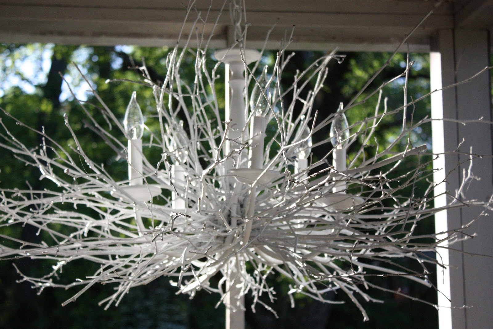 Branch chandelier… How to