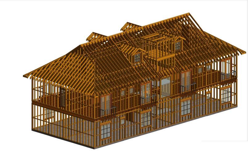 Estrutura em Wood Frame