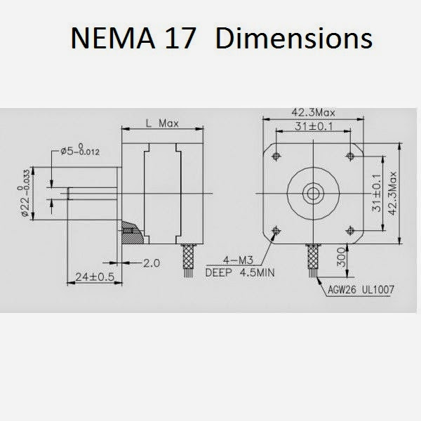 Proxxon mf70 cnc conversion kit for Nema stepper motor sizes