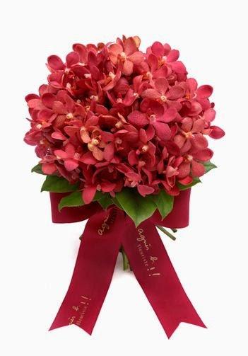 是經常新娘出門時用的花球