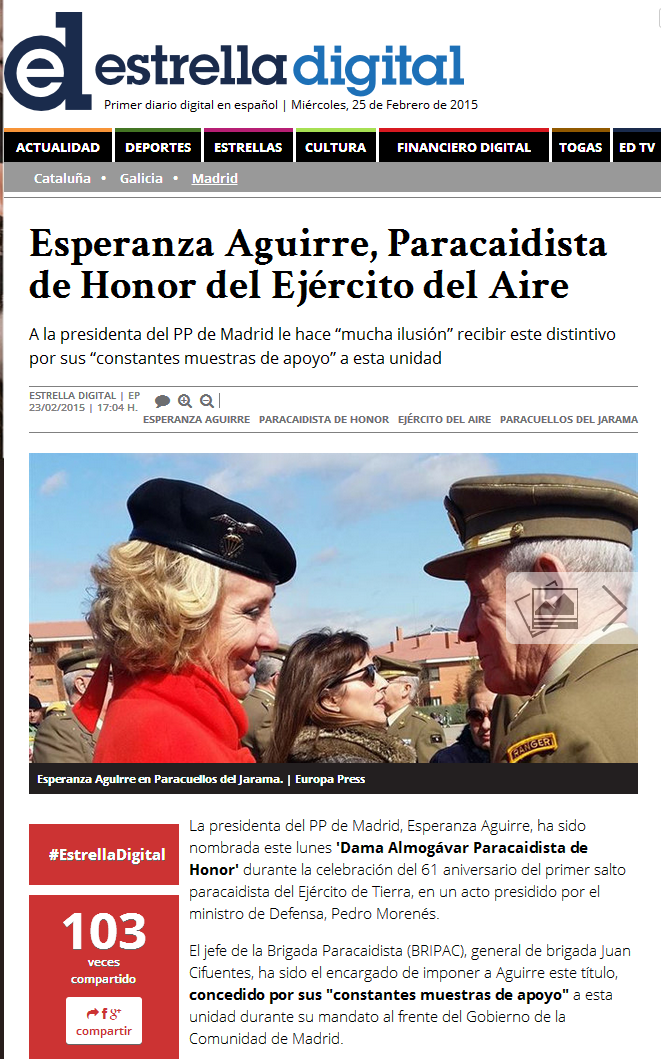 Paracaidista de Honor