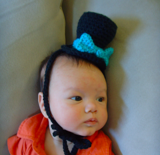 crocheted baby boy top hat