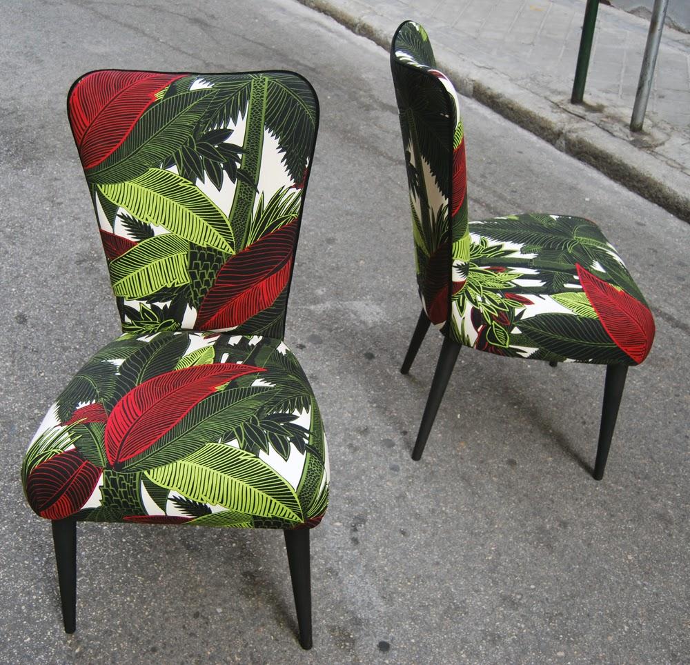 Sillas tapizadas con tela tropical la tapicera - Sillas provenzal tapizadas ...