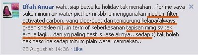 testimoni get clean water pitcher shaklee