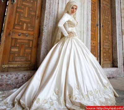 Jolie robe mariée hijab