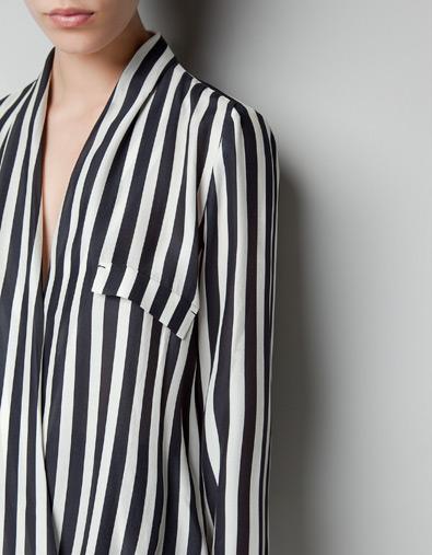Купить Блузку В Полоску Черную Женскую