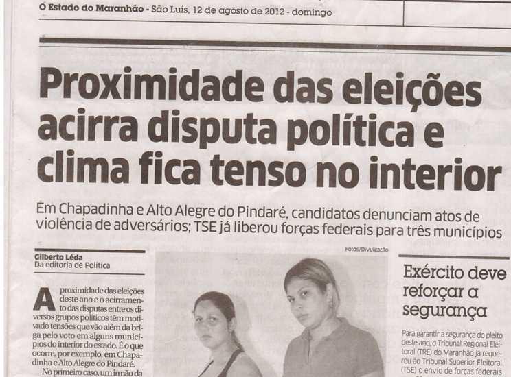 """e1aa3c23f0 Blog do Alexandre  Caso Galo  Jornal """"O Estado"""" Noticia Violência em ..."""