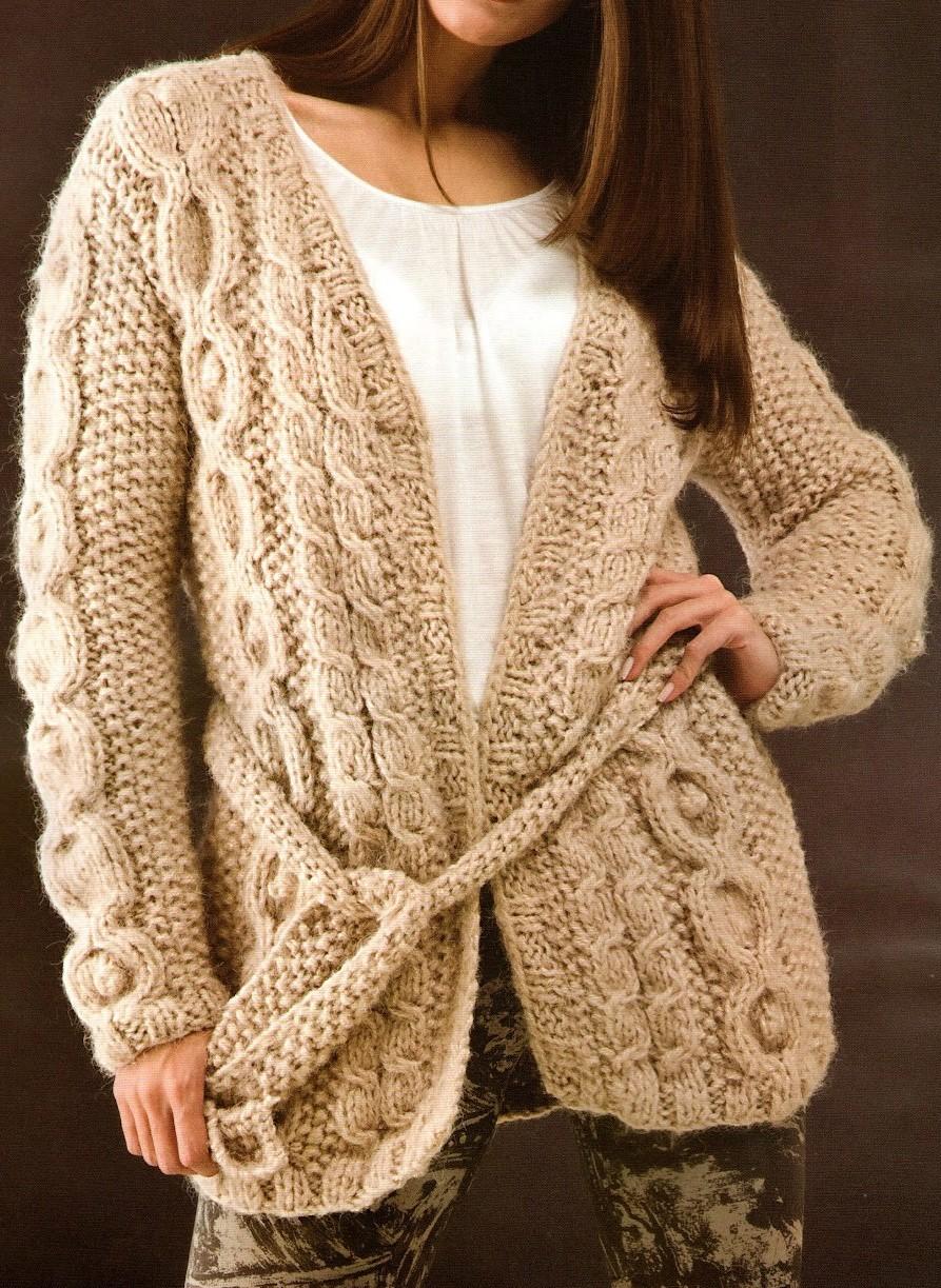 Patrones tejido gratis saco con torzadas crochet car - Almazuelas patrones gratis ...