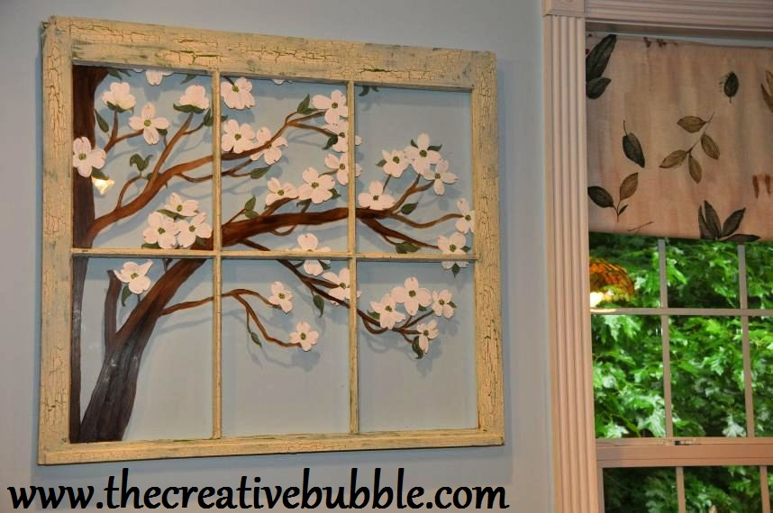 Painting On Glass Windows : The creative bubble painting on old windows
