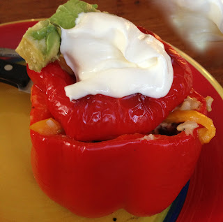 Stuffed Peppers With Toppings