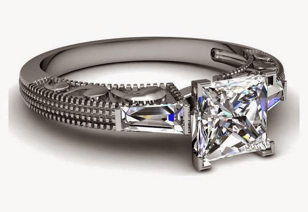 Engagement Rings Princess Cut Rectangle Diamond Design pictures hd