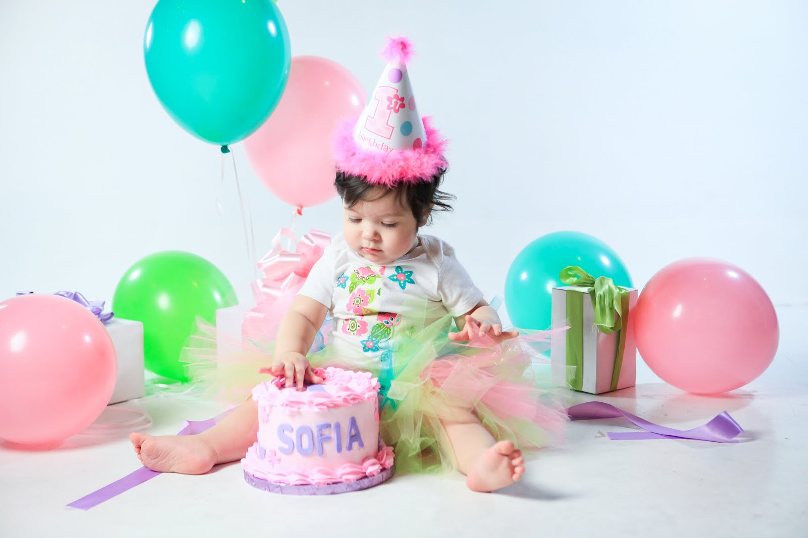Hot 1st Baby Birthday Party Glitter Crown Monthly Photo