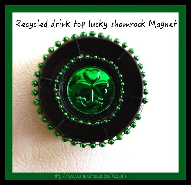 Recycled shamrock magnet tutorial