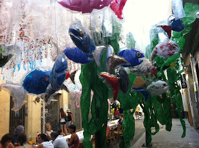 Plastic Fish and weeds - Barcelona Sights