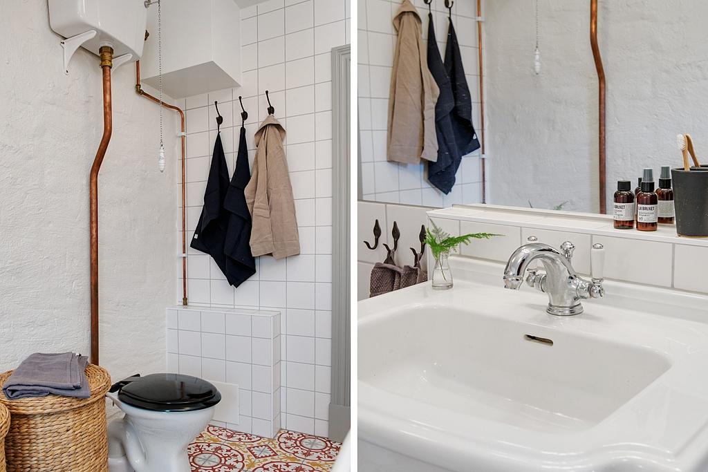 baño cargado de detalles