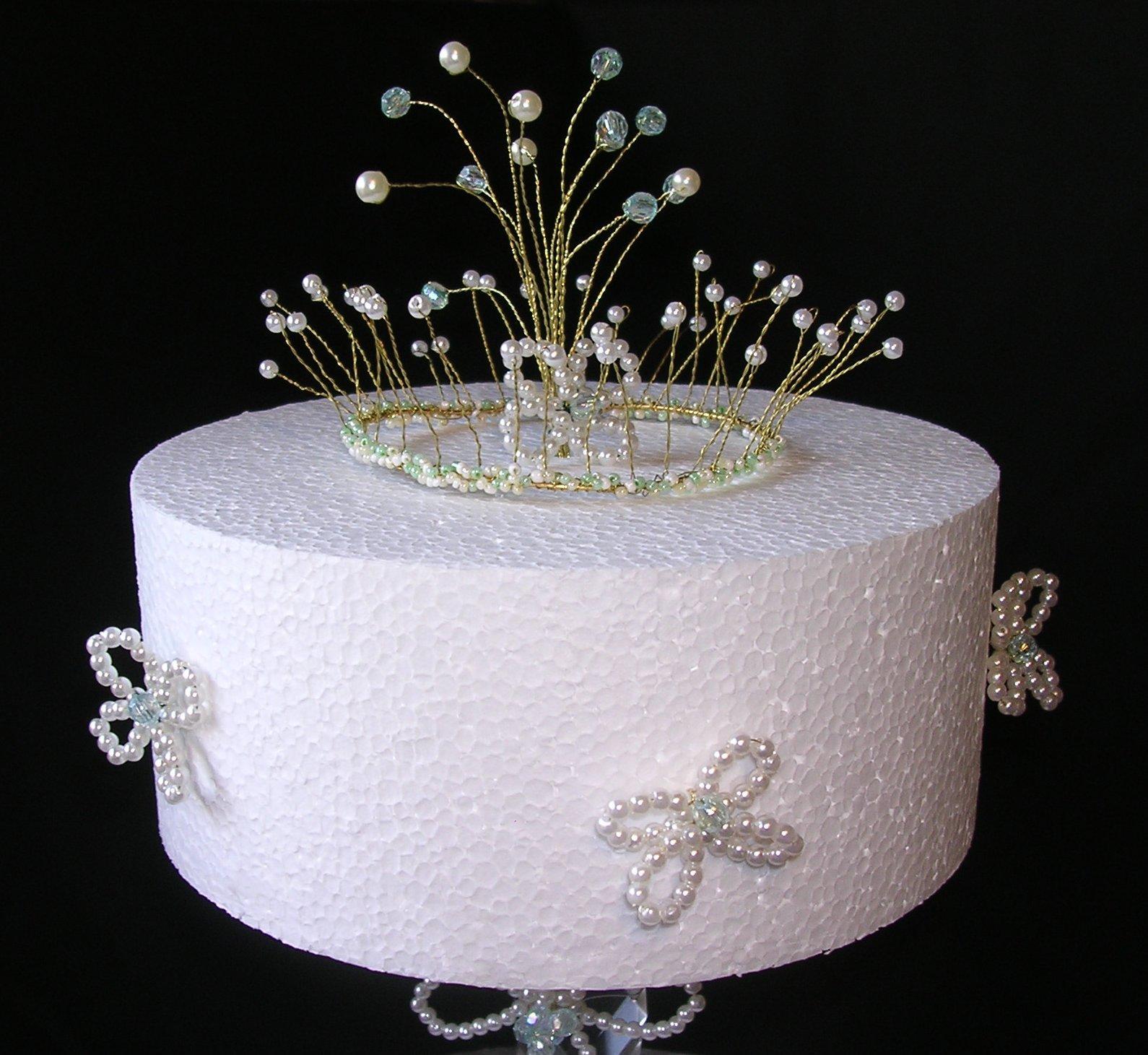 Crystal Velvet Weddings Wedding cake Pearl Floral Crown