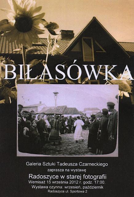 Zaproszenie na wystawę Radoszyce w starej fotografii. Wernisaż odbył się 15 września 2012.