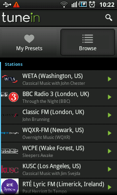 Android Radio - Classical Music Stations