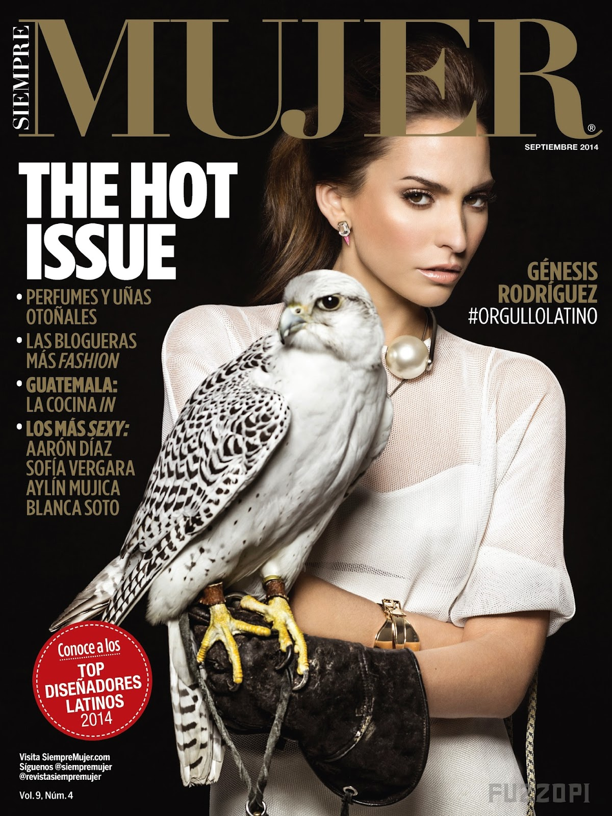 Genesis Rodriguez - Siempre Mujer Magazine, September 2014