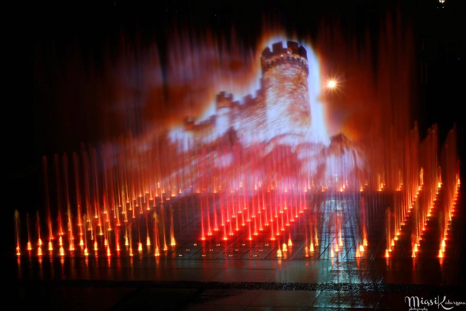 Rzeszów-miasto i pokaz fontanny