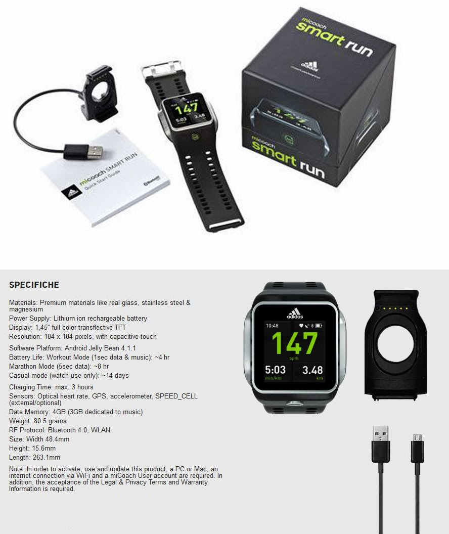 Adidas Smart Run Watch GPS