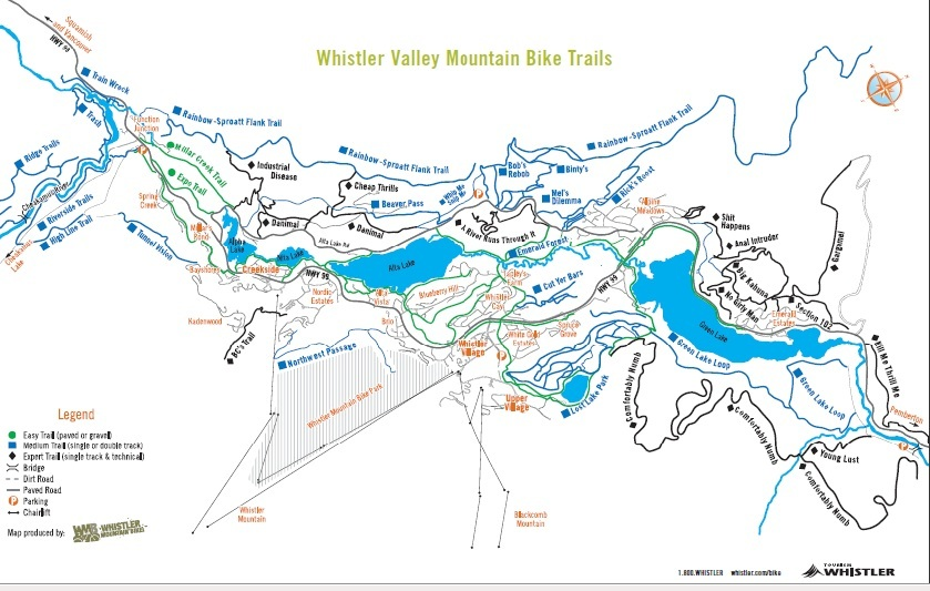 Whistler B C Mountain Bike and Valley Trails Tips and Directions