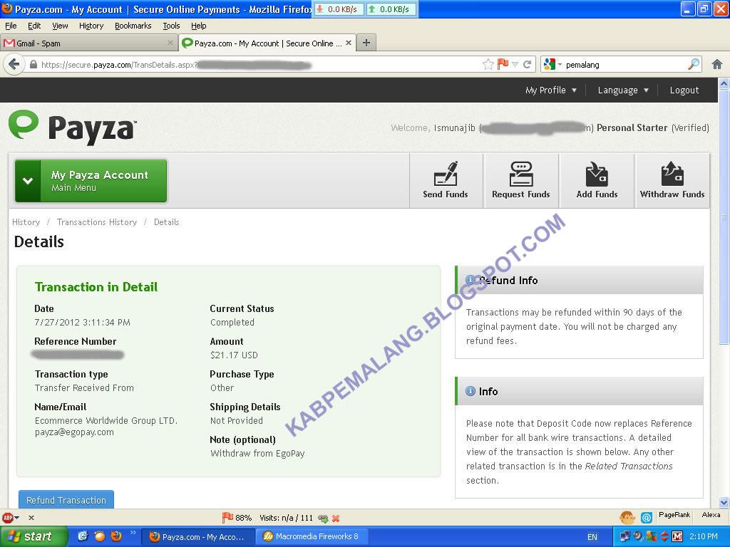 justbeenpaid.com Pembayaran tanggal  27 Juli 2012