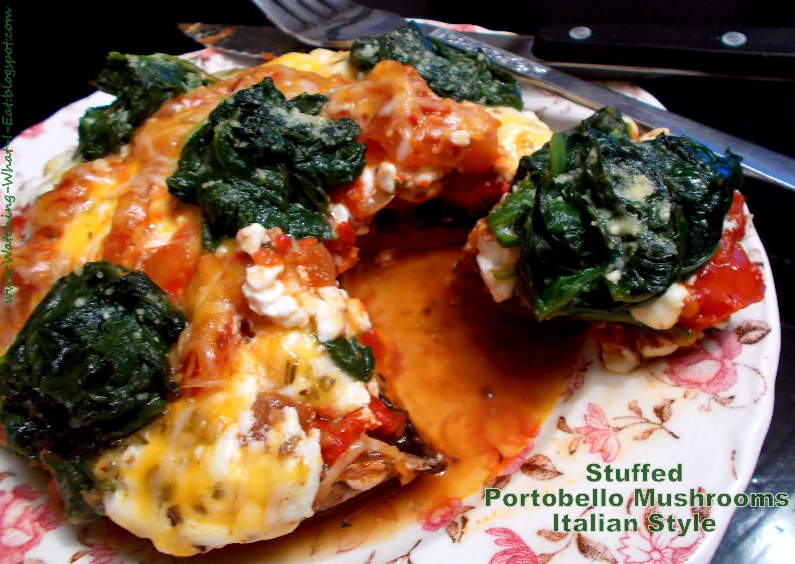 Watching What I Eat: Stuffed Portobello Mushrooms ...