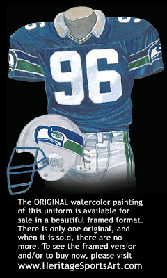 Seattle Seahawks 1988 uniform