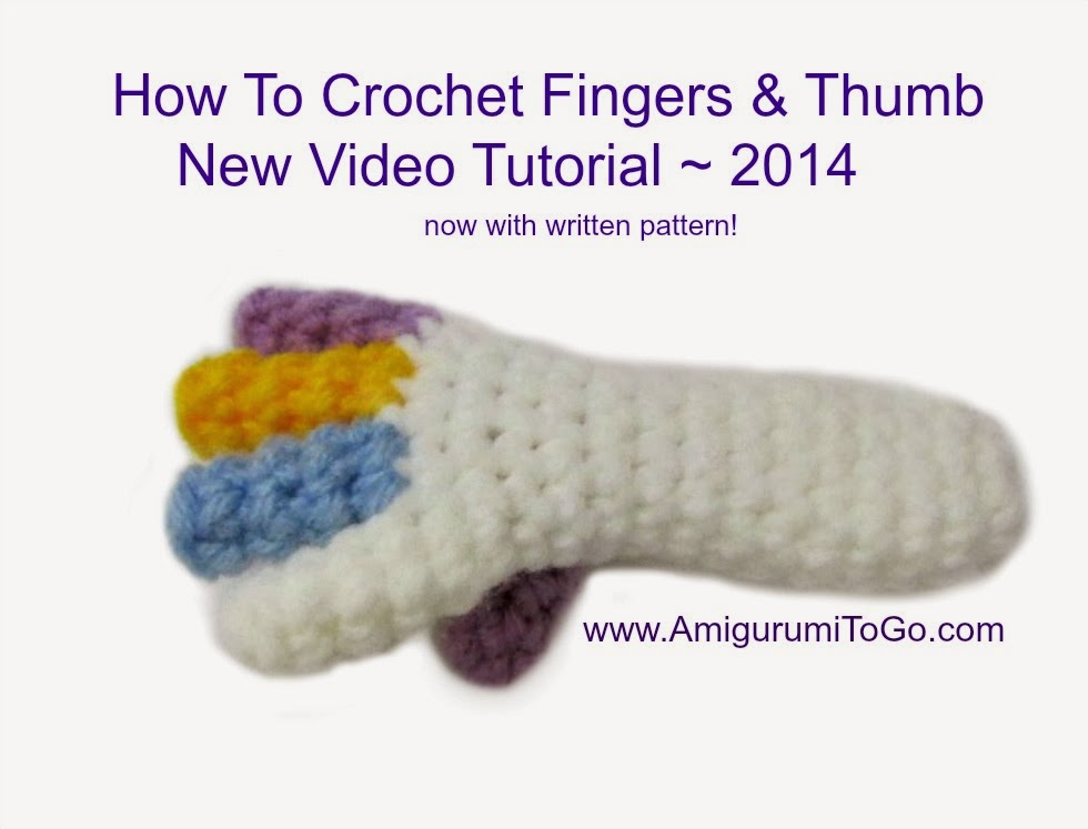 Crocheting By Hand : Video Crochet Doll Fingers Tutorial ~ Amigurumi To Go
